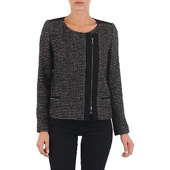 Abbigliamento Donna Giacche / Blazer Lola VIE LUREX Nero / Beige