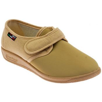 Scarpe Donna Pantofole Gaviga Morbidone Velcro Elastic. Pantofole beige