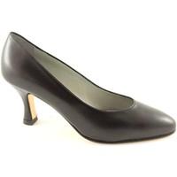 Scarpe Donna Décolleté Real Moda 014 nero scarpe donna decolletè suola cuoio Nero