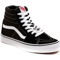 Scarpe Sneakers alte Vans SK8 HI BLACK Argento