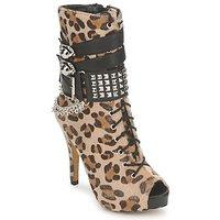 Scarpe Donna Stivaletti Abbey Dawn PLATFORM BOOTEE Leopard / Print