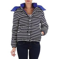 Abbigliamento Donna Piumini Petit Bateau CASSIS Marine / Bianco