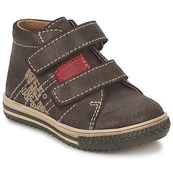 Scarpe Bambino Sneakers alte Citrouille et Compagnie ESCLO Marrone / Rosso