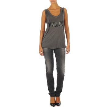 Abbigliamento Donna Jeans slim Diesel GETLEGG L.32 TROUSERS Grigio