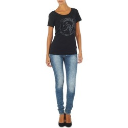 Abbigliamento Donna Jeans slim Diesel SKINZEE L.32 TROUSERS Blu