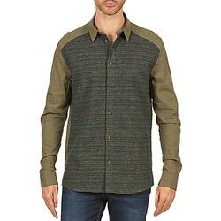 Abbigliamento Uomo Camicie maniche lunghe Eleven Paris VRAPP MEN KAKI