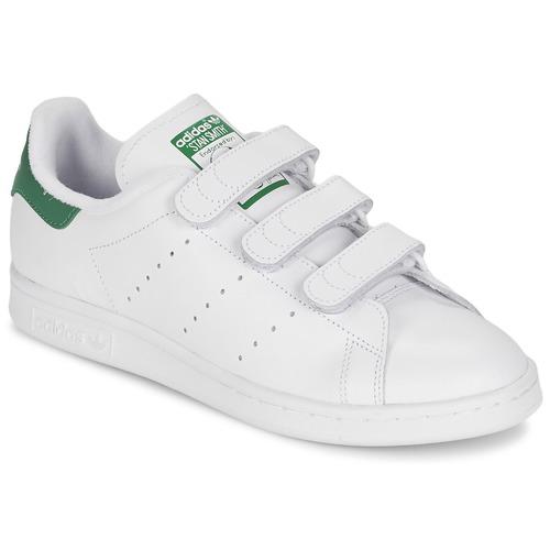 Scarpe Sneakers basse adidas Originals STAN SMITH CF Bianco / Verde