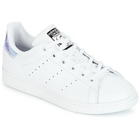 Scarpe Bambina Sneakers basse adidas Originals STAN SMITH J Bianco