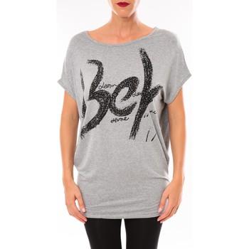 Abbigliamento Donna T-shirt maniche corte Vera & Lucy Top MC3071 gris Grigio