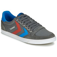 Scarpe Uomo Sneakers basse Hummel TEN STAR LOW CANVAS Grigio / Blu / Rosso