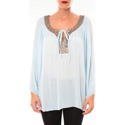 Abbigliamento Donna Tuniche Tcqb Tunique TDI paillettes bleu ciel Blu