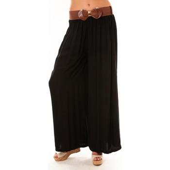 Abbigliamento Donna Pantaloni morbidi / Pantaloni alla zuava De Fil En Aiguille Pantalon Trionfo noir Nero