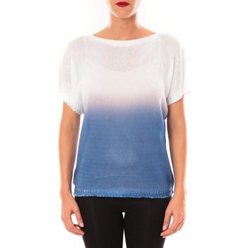 Abbigliamento Donna T-shirt maniche corte De Fil En Aiguille Top Carla blanc Bianco