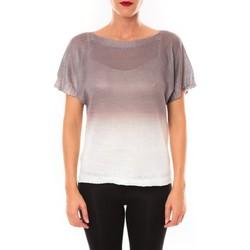 Abbigliamento Donna T-shirt maniche corte De Fil En Aiguille Top Carla marron Marrone