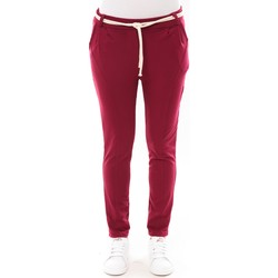 Abbigliamento Donna Pantaloni 5 tasche De Fil En Aiguille Pantalon Sandra bordeaux Rosso