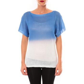 Abbigliamento Donna T-shirt maniche corte De Fil En Aiguille Top Carla bleu Blu