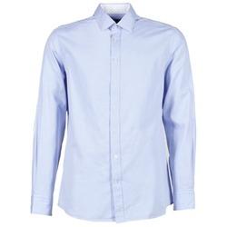 Abbigliamento Uomo Camicie maniche lunghe Hackett SQUARE TEXT MUTLI Blu