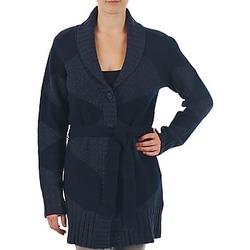 Abbigliamento Donna Gilet / Cardigan Gant N.Y. DIAMOND SHAWL COLLAR CARDIGAN MARINE