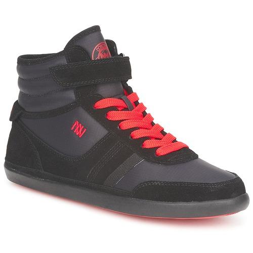 Dorotennis MONTANTE STREET LACETS + VELCRO Nero Scarpe Sneakers alte Donna 35,00