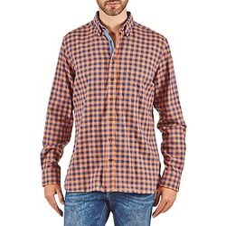 Abbigliamento Uomo Camicie maniche lunghe Hackett SOFT BRIGHT CHECK Arancio / Blu