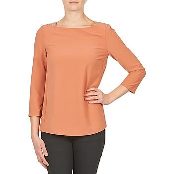 Abbigliamento Donna T-shirts a maniche lunghe Color Block 3214723 Corail