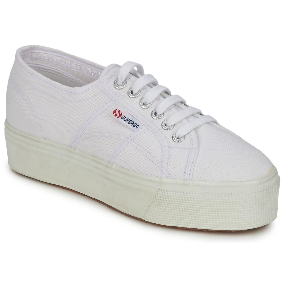 Scarpe Shoes SUPERGA DONNA GRIGIE con TACCO 10 size 37