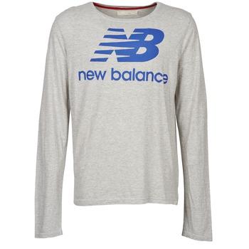 Abbigliamento Uomo T-shirts a maniche lunghe New Balance NBSS1403 LONG SLEEVE TEE Grigio