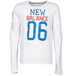 Abbigliamento Uomo T-shirts a maniche lunghe New Balance NBSS1404 GRAPHIC LONG SLEEVE TEE Bianco
