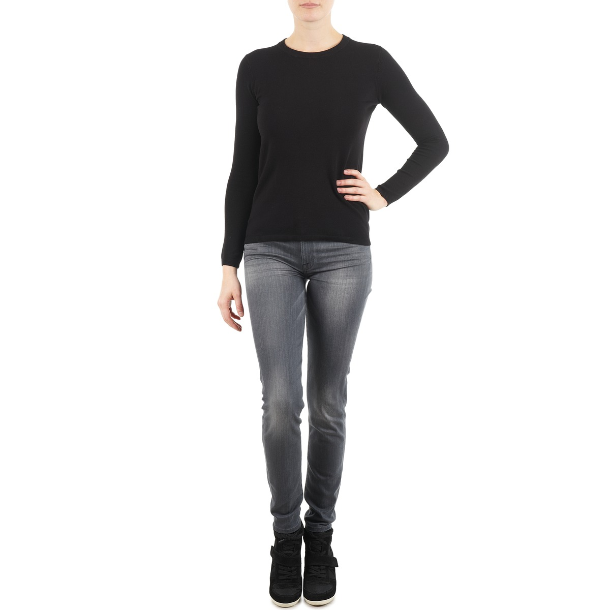 7 for all Mankind THE SKINNY DARK STARS PAVE Grigio