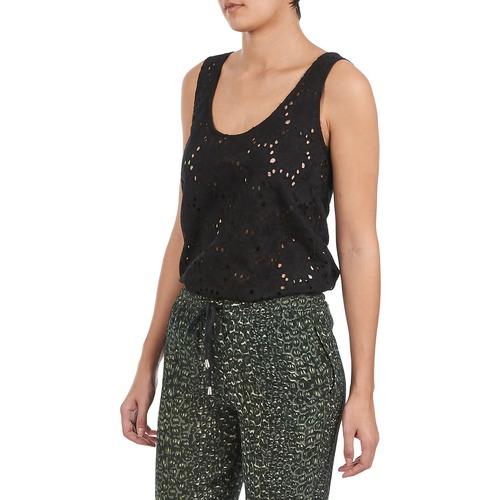 Forest Ade007 Nero Consegna Maniche Senza Stella Donna 8100 Gratuita Abbigliamento TopT shirt xBWoredC