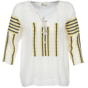 Abbigliamento Donna Top / Blusa Stella Forest ATU025 Bianco / Grigio / Giallo