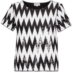 Abbigliamento Donna T-shirt maniche corte American Retro GEGE Nero / Bianco