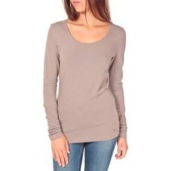Abbigliamento Donna T-shirts a maniche lunghe Tom Tailor Lara Stretch Longsleeve Taupe Marrone
