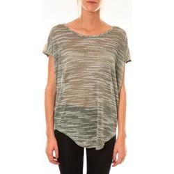 Abbigliamento Donna T-shirt maniche corte Dress Code Top à sequins R5523 vert Verde