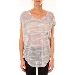 Abbigliamento Donna T-shirt maniche corte Dress Code Top à sequins R5523 gris Grigio