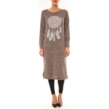 Abbigliamento Donna Abiti corti By La Vitrine Robe Plume prune Viola