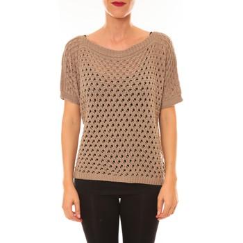 Abbigliamento Donna Maglioni La Vitrine De La Mode By La Vitrine Pull Carla taupe Marrone
