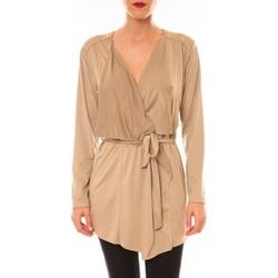 Abbigliamento Donna Gilet / Cardigan La Vitrine De La Mode By La Vitrine Cardigan asymétrique Lola beige Beige