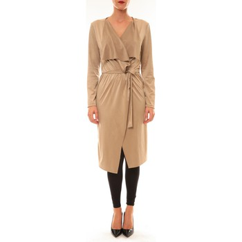 Abbigliamento Donna Gilet / Cardigan La Vitrine De La Mode By La Vitrine Cardigan asymétrique Nina beige Beige