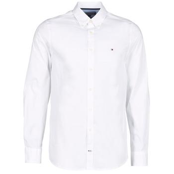 Abbigliamento Uomo Camicie maniche lunghe Tommy Hilfiger STRETCH POPLIN Bianco