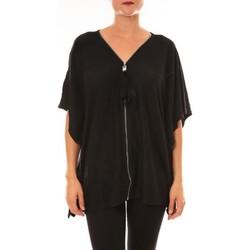 Abbigliamento Donna T-shirt maniche corte De Fil En Aiguille Cardigan MC1209 noir Nero