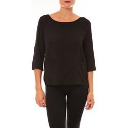Abbigliamento Donna T-shirts a maniche lunghe La Vitrine De La Mode By La Vitrine Top K598 noir Nero
