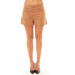 Abbigliamento Donna Shorts / Bermuda La Vitrine De La Mode By La Vitrine Short 53713 camel Marrone