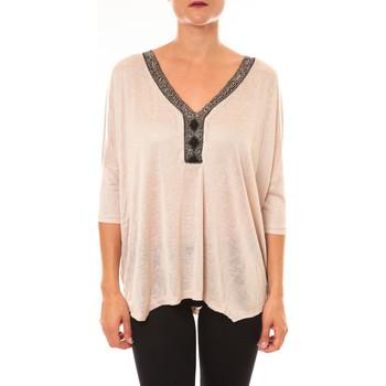 Abbigliamento Donna Top / Blusa La Vitrine De La Mode By La Vitrine Top R5550 beige Beige