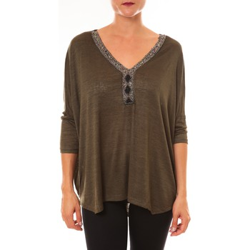 Abbigliamento Donna Top / Blusa La Vitrine De La Mode By La Vitrine Top R5550 vert Verde