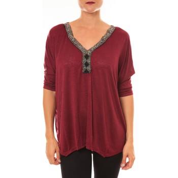 Abbigliamento Donna Top / Blusa La Vitrine De La Mode By La Vitrine Top R5550 bordeaux Rosso