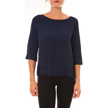 Abbigliamento Donna T-shirts a maniche lunghe La Vitrine De La Mode By La Vitrine Top K598 marine Blu