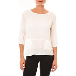 Abbigliamento Donna T-shirts a maniche lunghe La Vitrine De La Mode By La Vitrine Top K598 blanc Bianco