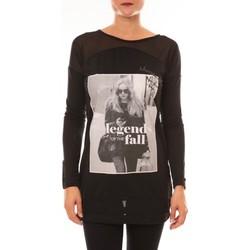 Abbigliamento Donna T-shirts a maniche lunghe La Vitrine De La Mode Tee Shirt Manches Longues MC1919 noir Nero