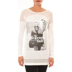 Abbigliamento Donna T-shirts a maniche lunghe La Vitrine De La Mode Tee Shirt Macnhes Longues MC1919 blanc Bianco